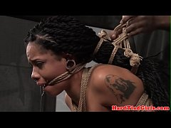 Tiedup Jessica Creepshow punished with toys