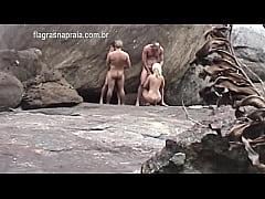 Turista Alemão filma casais de swing pelados fa...