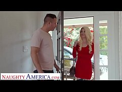 Naughty America Kit Mercer fucks her son's bull...