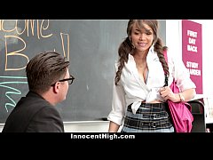 InnocentHigh - Busty Teachers Assistant Gets Po...