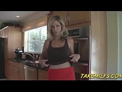 Blonde Milf Mom Rewards her Stepson for doing C...