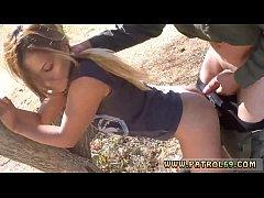 Asian street meat handcuffed Border Jumper Puts...