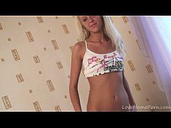 Naughty amateur blonde finally reveals her swee...