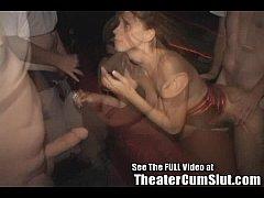 Slutty MILF Karen Sucks and Fucks Porn Theater ...