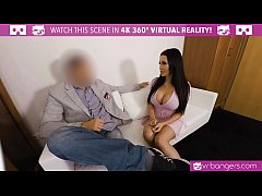 VRBangers.com Busty Patty Michova Casting couch...
