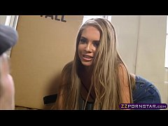 Sexy blonde gets fucked while moving in a new a...