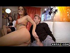 Stripper Keisha Grey anal with customer while h...