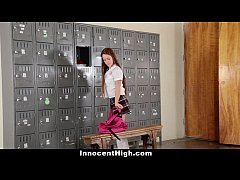 InnocentHigh - Slutty Cheerleader Squirts All O...