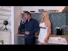 Threesome Fantasies Gorgeous Blonde Gets Stuffe...