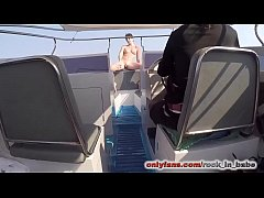 Getting fucked on a boat and cumwalking in fron...