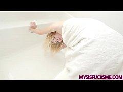 Fucking My Hot Stepsister Over The Bathtub POV - Mysisfucksme.com