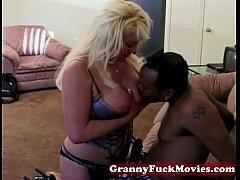 Interracial Granny Nailing