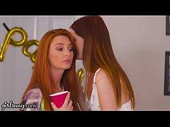 GIRLSWAY Lesbian Virgin 3Way with Redhead Step-...