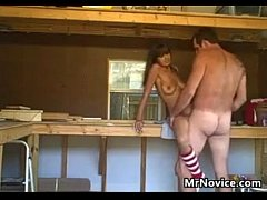 Couple Film Themselves Fucking In The Garage
