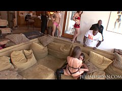 Jules Jordan - Ultimate Big Black Cock Orgy Wit...