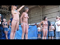 fresh real women competing in biker rally wet t...