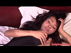 Busty ladyboy assfucked in various poses