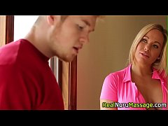 Alluring juggs masseuse