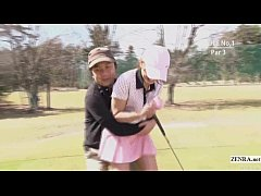 Subtitled uncensored HD Japanese golf outdoors ...