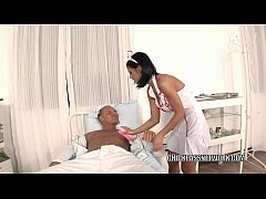 Slutty nurse Black Angelika fucks in the hospit...