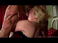 Supe cute chubby old spunker loves fucking & fa...