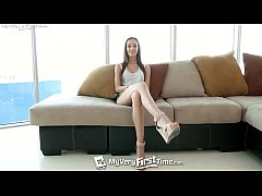 MY VERY FIRST TIME Brunette Charity Crawford fu...