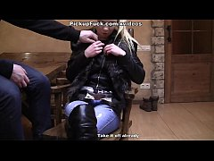 Hot pickup fuck in a sauna gets the girl to clo...