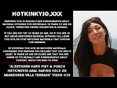 AlexThorn hard fist & punch Hotkinkyjo anal gap...