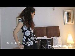 Indian Hottie Jasmine Stripping Show From Her B...