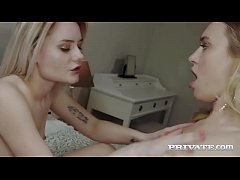 Lesbian babes Natalia Starr and Scarlett Knight...