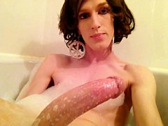 BATH TIME HORNY CROSSDRESSER