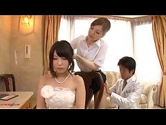 Menneske sex med brudepige smukke foran hans kone