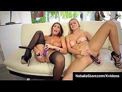 Lustful Lesbian Natalia Starr & August Ames Lic...