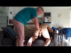 Top stretches bottom's hole between fucks