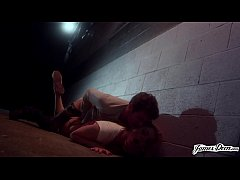 Total Submission - Dahlia Sky gets Ass Fucked in Back Alley by a Stranger! - Rough Role Play Fantasy Sex with James Deen