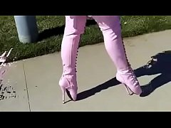 Best Mom Flashing in Pink Ballet Boots. See pt2...