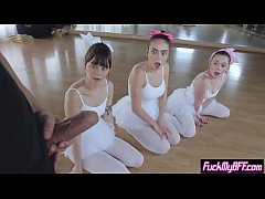 Flexible ballerina teens smashed by a new perv ...