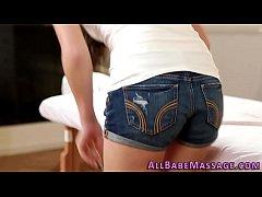 Lesbo milf licks masseuse