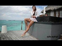maldives teasing GML sandals & floating skirt C...