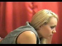 Stunning Blondie Striptease On Cam