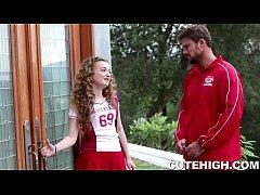 Cheerleader Seduces Coach