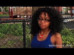 whoaboyz - black teen girl playing with a big b...