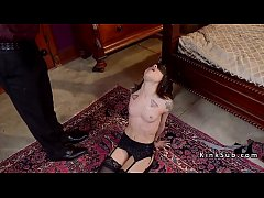 Teen slave gets waxed and whipped
