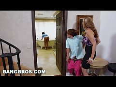 BANGBROS - Stepmom threesome with the Latina ma...