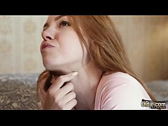 The sexy and horny teen asks grandpa to fuck he...