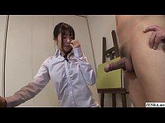Uncensored JAV CFNM nude art class blowjob Subt...