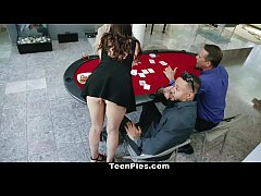 TeenPies - Poker Players Run Train On Teen Slut