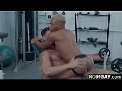 College fratboys interracial gay sex at the gym
