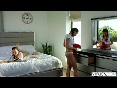 VIXEN Two Naughty College Students Sneak Into A...