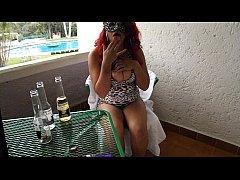 borracha mexicana se masturba en balcon de hote...